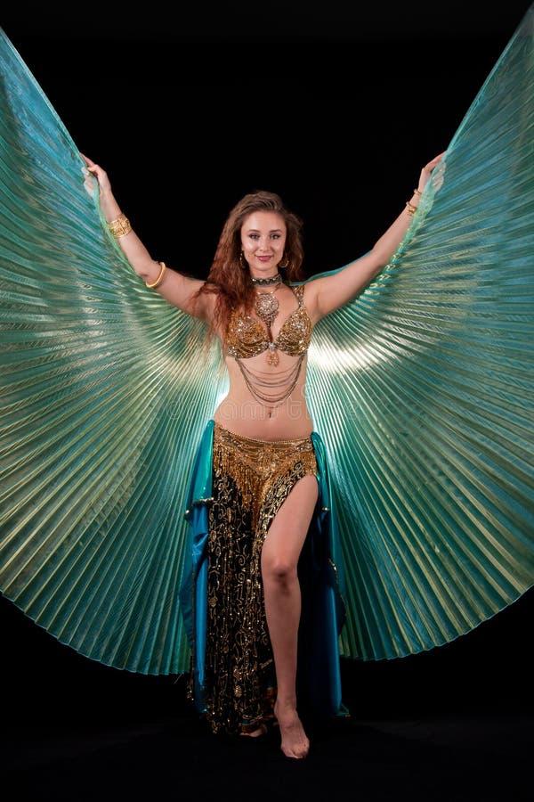 isis bellydance φτερά βασίλισσας στοκ εικόνες