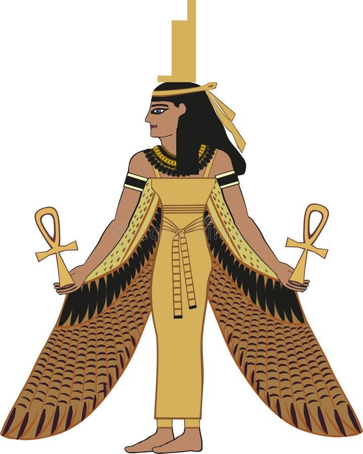 Isis egípcio da deusa ilustração stock