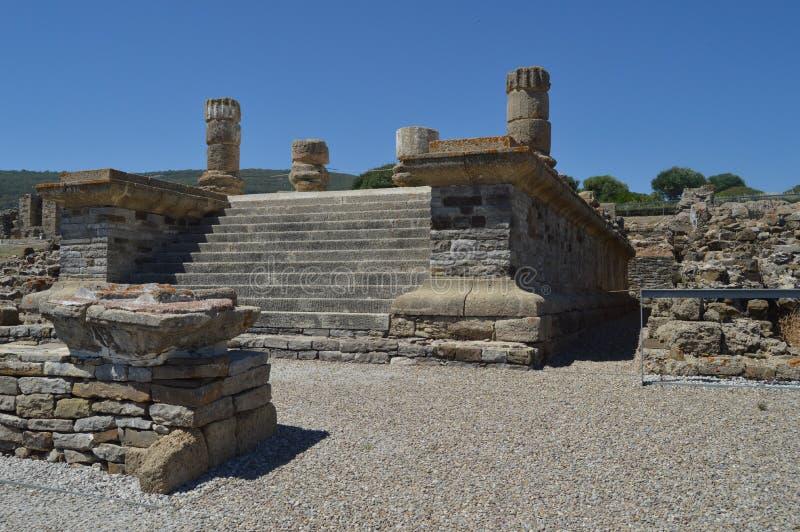 Isis Temple In Roman City Baelo Claudia Dating In The 2nd århundrade F. KR. Lagerföra fotoet, bilden och den fria bilden för roya royaltyfri foto