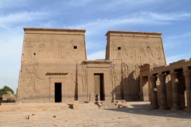 Isis Temple von Philae in Ägypten stockbild