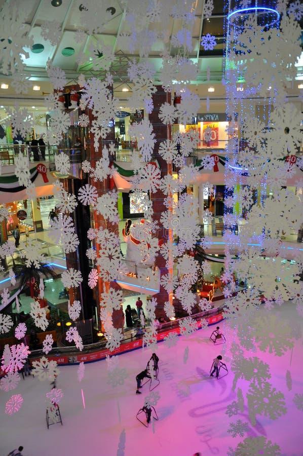 Isisbana på den Al Ain gallerien, UAE royaltyfri foto