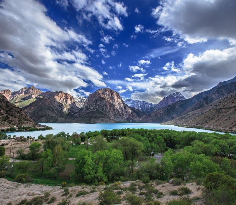 Iskader lake in Fann mountains, Tajikistan royalty free stock image