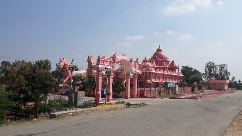 Iskcon寺庙,阿纳恩塔普尔,安得拉邦 库存照片