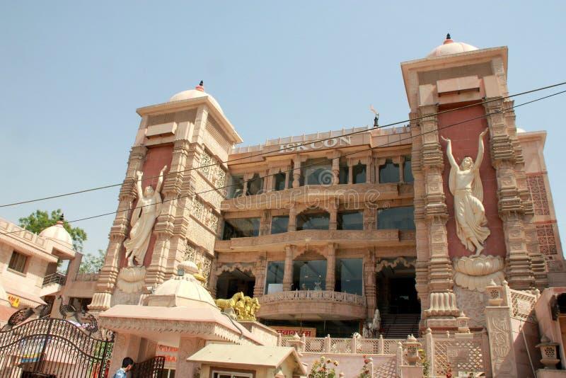 ISKCON-Tempel Noida, Uttar Pradesh, Indien lizenzfreies stockfoto