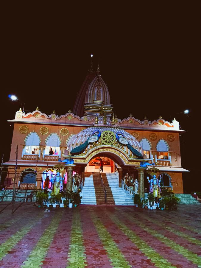ISKCON Temple at Birchandrapur India royalty free stock image