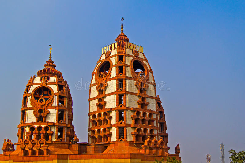 ISKCON temple, Delhi royalty free stock photography