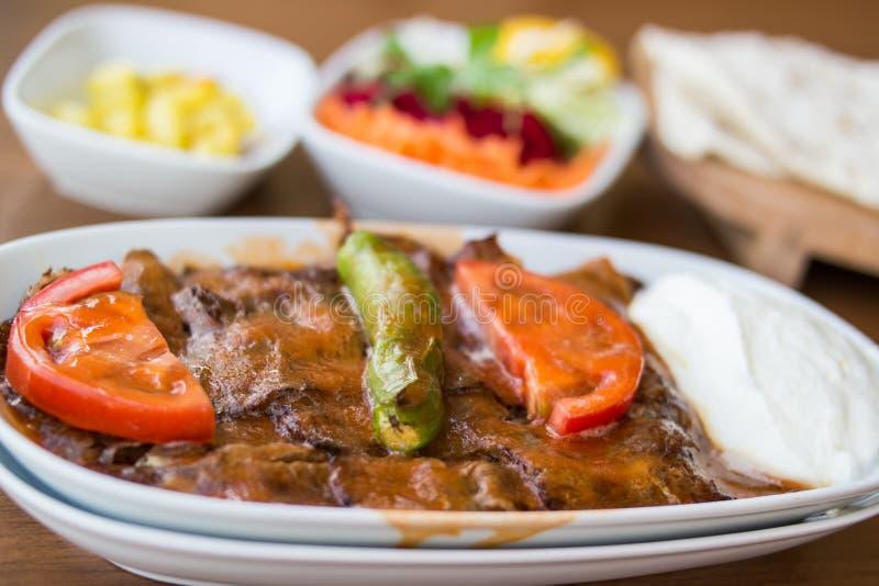 Iskender/alimento tradizionale turco fotografia stock libera da diritti