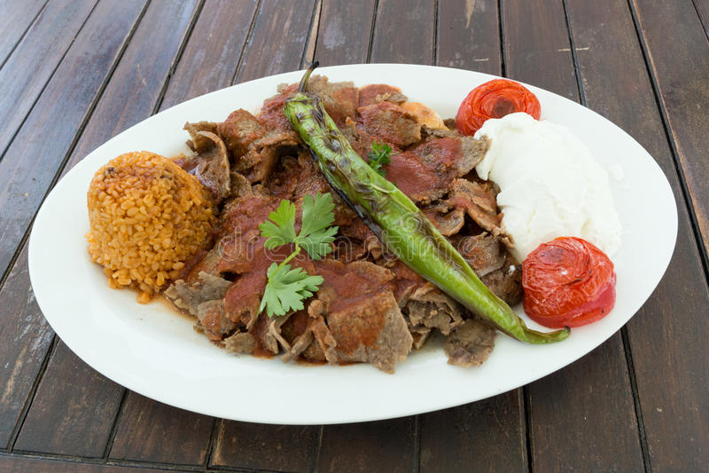 Iskender kebab royalty free stock photography