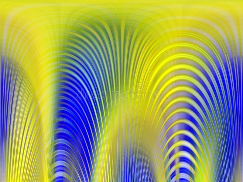 Iskrzaści żółci błękitni światła, geometrii tło, grafika, abstrakcjonistyczny tło i tekstura, ilustracji