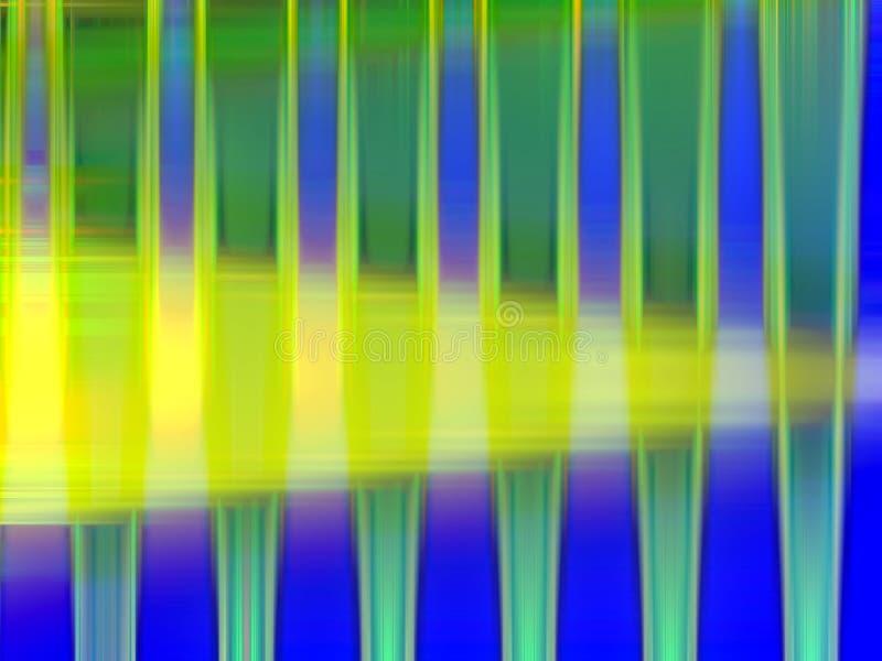 Iskrzaści żółci błękitni zielone światła, geometrii tło, grafika, abstrakcjonistyczny tło i tekstura, ilustracji