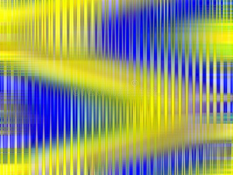 Iskrzaści żółci niebieskich linii światła, geometrii tło, grafika, abstrakcjonistyczny tło i tekstura, ilustracja wektor