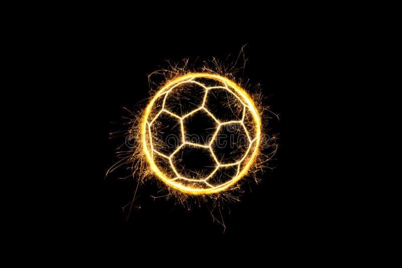 Iskrzasta piłki nożnej piłka obrazy royalty free