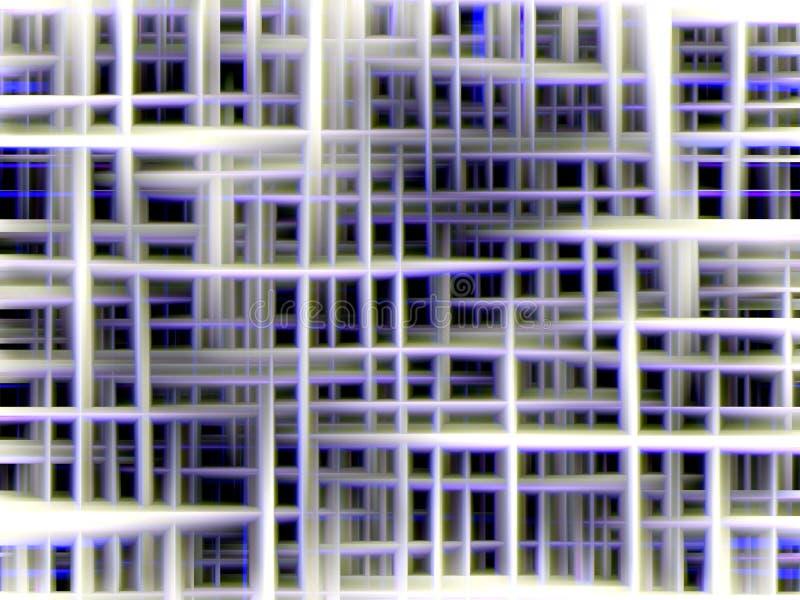 Iskrzaste niebieskie linie, geometrie kształtują, abstrakcjonistyczny tło, kolorowe geometrie ilustracja wektor