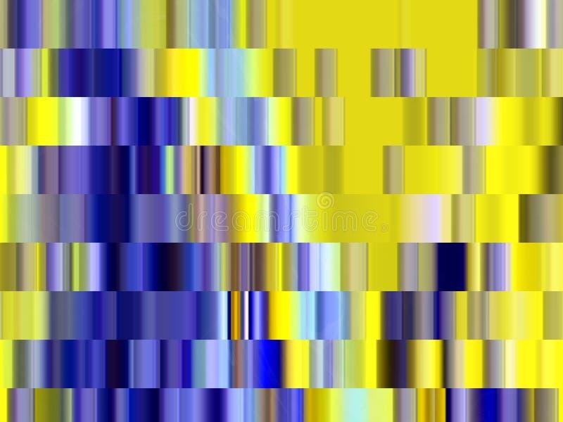 Iskrzasty żółty niebieskich linii geometrii tło, grafika, abstrakcjonistyczny tło i tekstura, royalty ilustracja