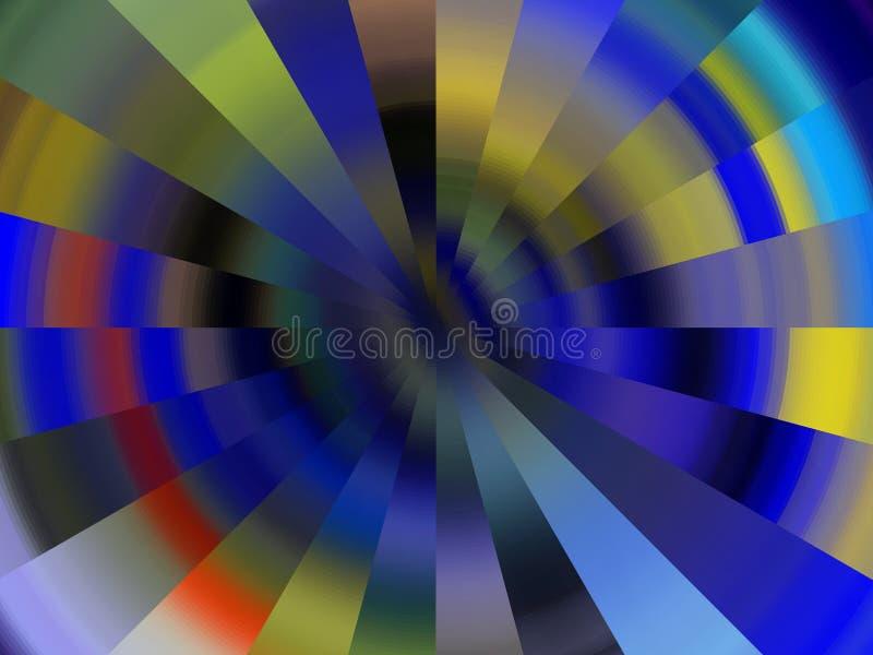 Iskrzasty kółkowy kolorowy miękkich świateł tło, grafika, abstrakcjonistyczny tło i tekstura, ilustracja wektor