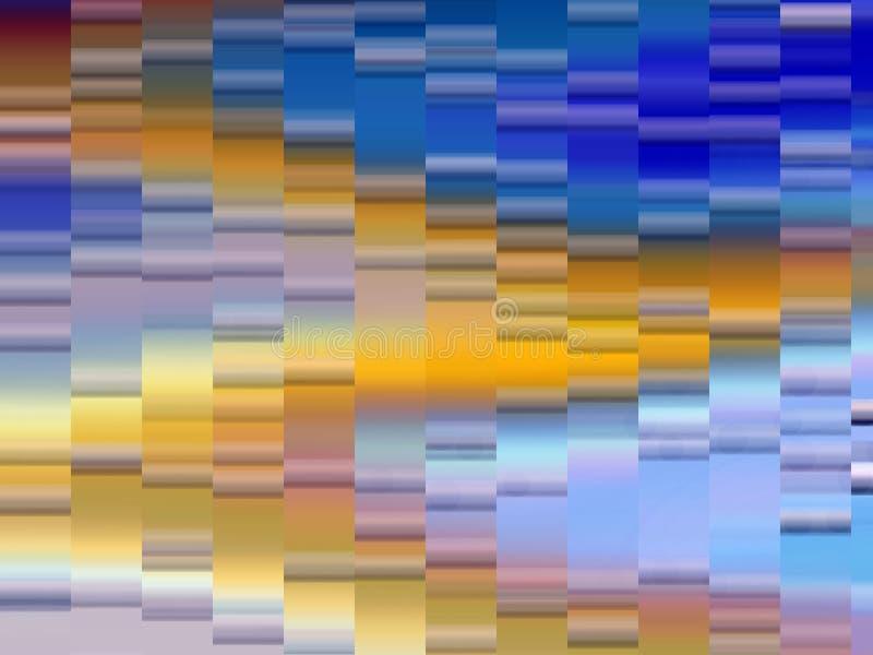 Iskrzasty miękki złocisty błękit macha geometrii tło, grafika, abstrakcjonistycznego tło i teksturę, royalty ilustracja