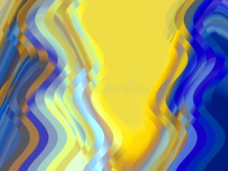 Iskrzasty złocisty błękitny geometrii tło, grafika, abstrakcjonistyczny tło i tekstura, ilustracji