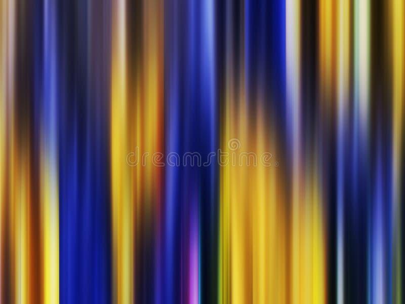 Iskrzasty złocisty błękitny miękkich linii tło, grafika, abstrakcjonistyczny tło i tekstura, royalty ilustracja