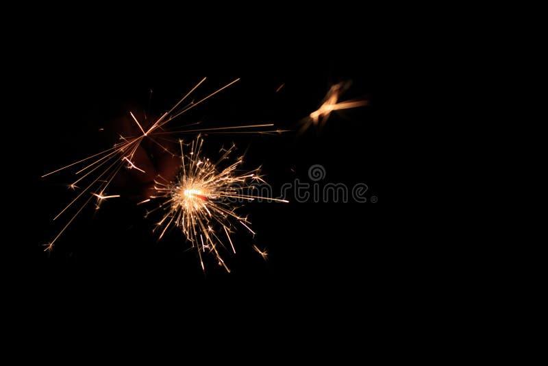 Iskrzyć lekki podczas wakacyjnego nocy świętowania fotografia stock