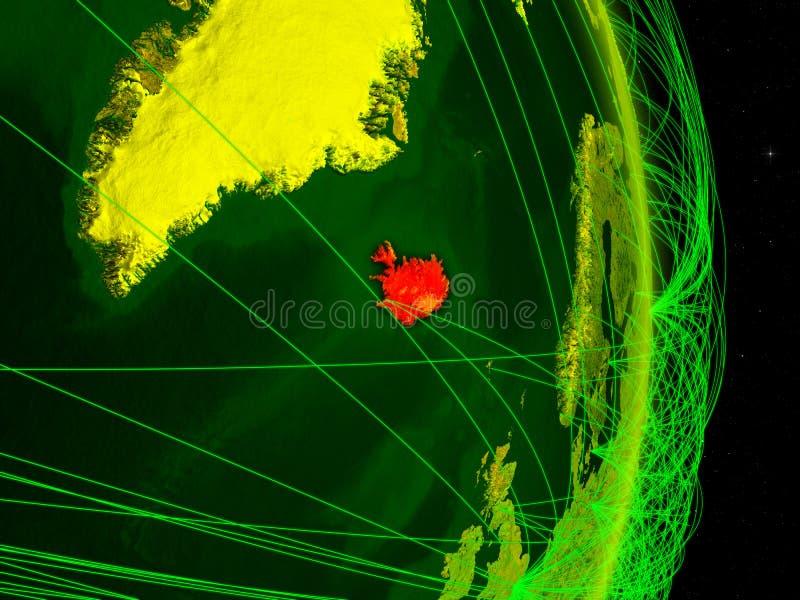 Islândia na terra digital ilustração royalty free