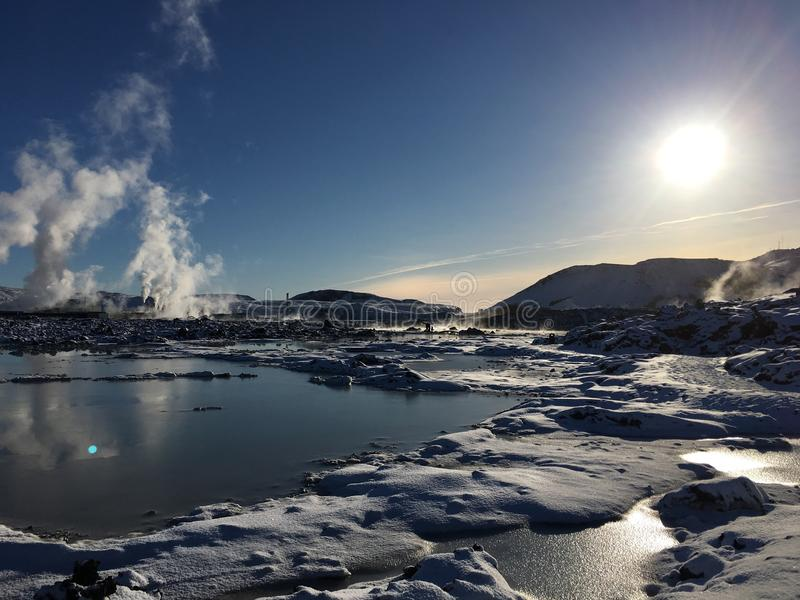 Isländische Lagune lizenzfreie stockfotos