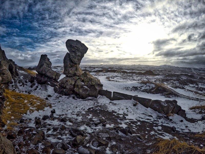 Isländische Landschaft stockfotografie