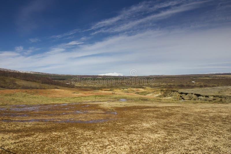 Isländische Tundra lizenzfreie stockfotografie