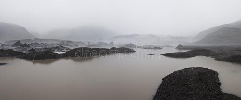 Download Isländischer Gletscher stockfoto. Bild von nebel, vulkanisch - 26367002
