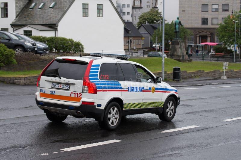 Isländischer Polizeiwagen lizenzfreies stockfoto