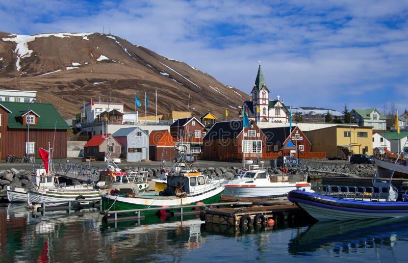 Isländischer Seehafen stockfotos