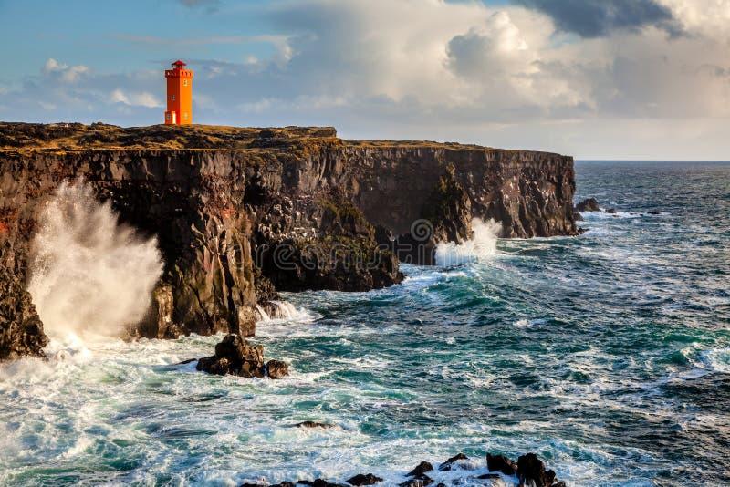Isländsk kust royaltyfria bilder