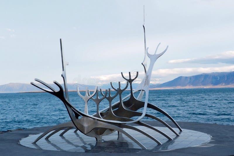 Isländsk staty viking royaltyfria bilder