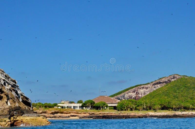 Isla Изабелла с побережья Mexico's Ривьеры Наярита стоковое фото rf
