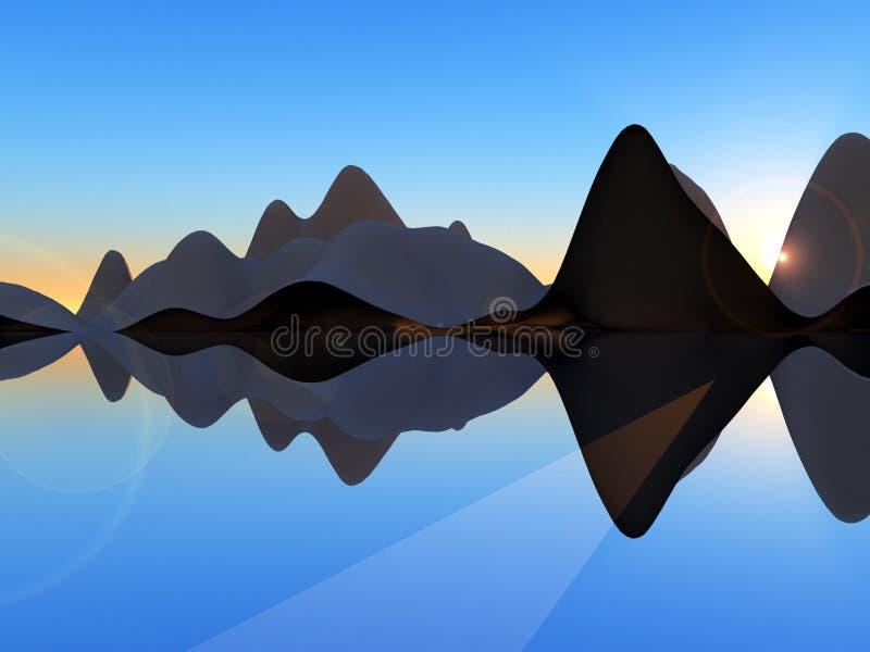 Isla 2 de la onda stock de ilustración