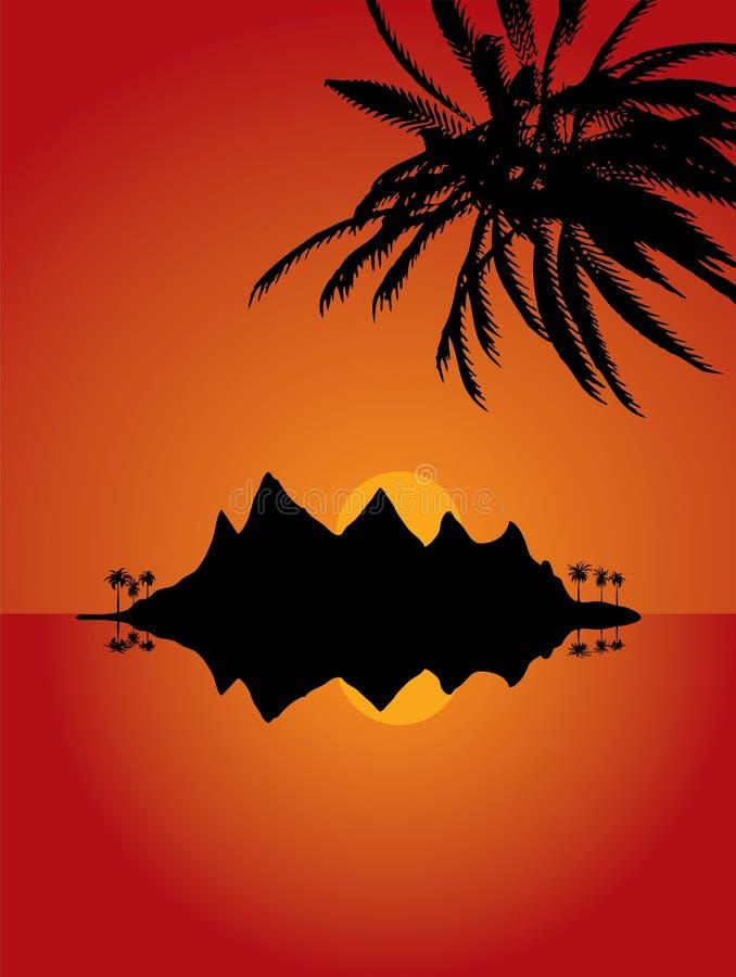 Isla abandonada ilustración del vector