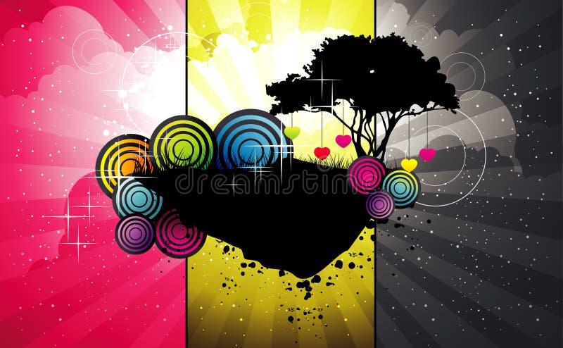 Isla abstracta del árbol libre illustration