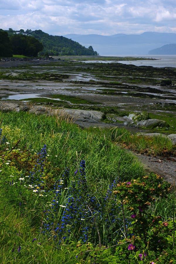 Isla-aux.-Coudres, Quebec fotografía de archivo