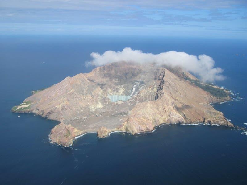 Isla blanca, Nueva Zelandia fotografía de archivo