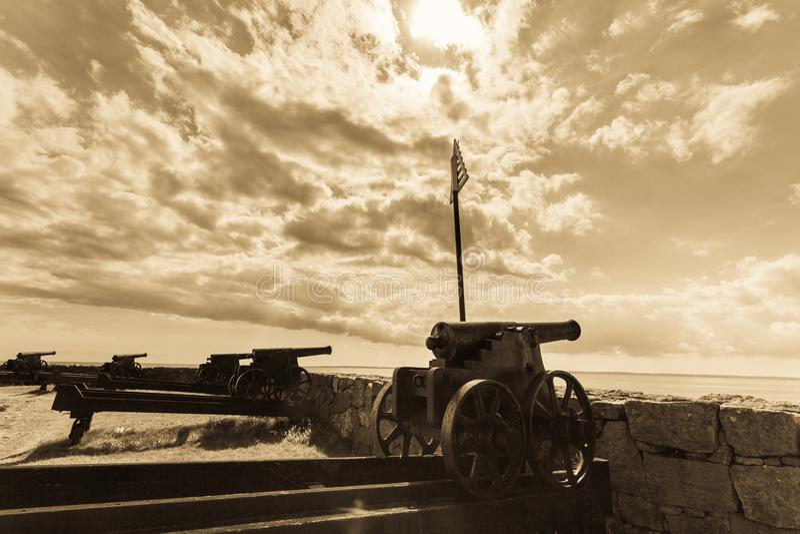 Isla Bornholm Dinamarca de Christiansoe del fuerte imagenes de archivo