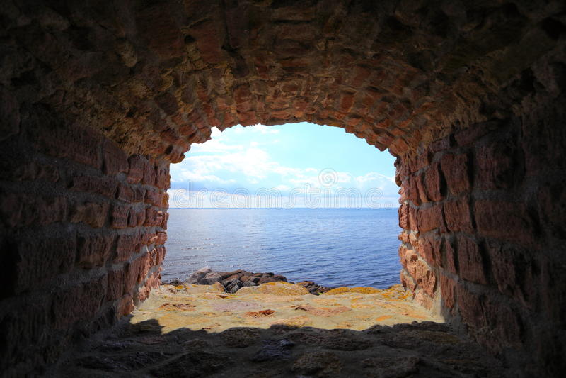 Isla Bornholm Dinamarca de Christiansoe del fuerte fotos de archivo libres de regalías