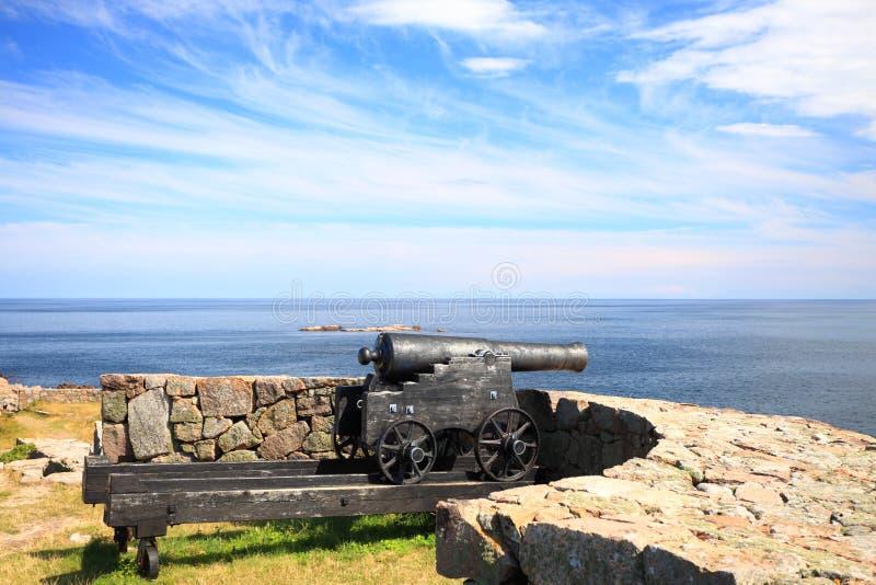 Isla Bornholm Dinamarca de Christiansoe del fuerte imagen de archivo