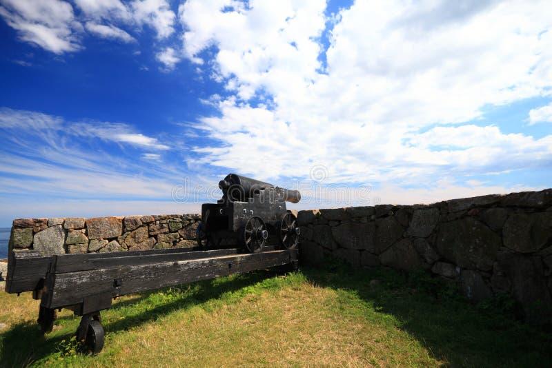 Isla Bornholm Dinamarca de Christiansoe del fuerte imagen de archivo libre de regalías