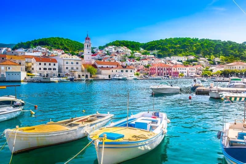Isla Brac en Croacia, mediterráneo imagen de archivo libre de regalías