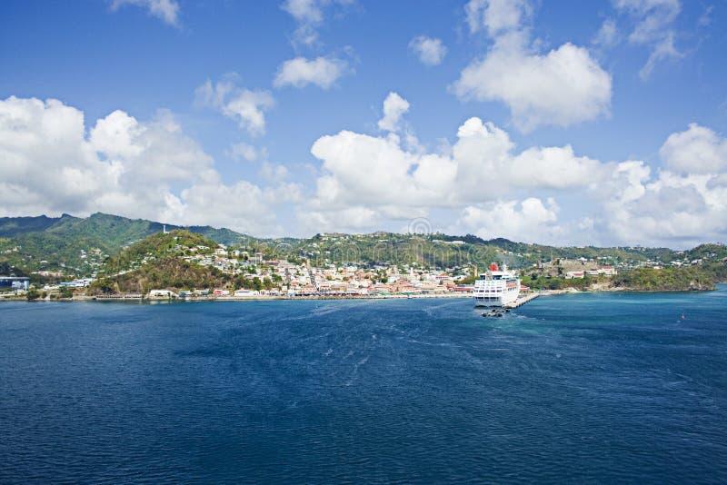 Isla caribeña imagen de archivo libre de regalías