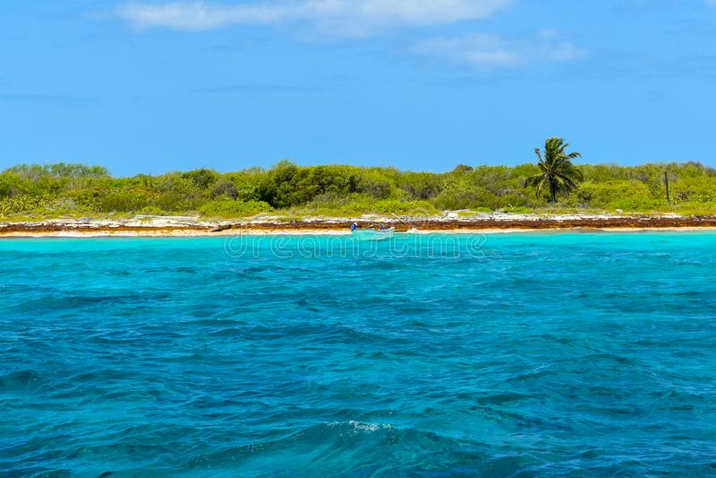 Isla Catalina in der Dominikanischen Republik stockfotografie