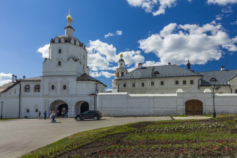 Isla-ciudad Sviyazhsk Monasterio santo de Sviazhsky Dormition imagen de archivo