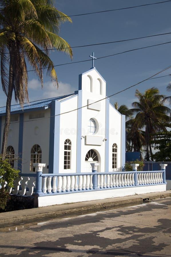 Isla Colombia de San Andres de la iglesia de San José imagenes de archivo