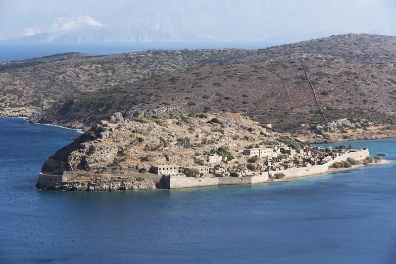 Isla Creta, Geece de Spinalonga fotos de archivo