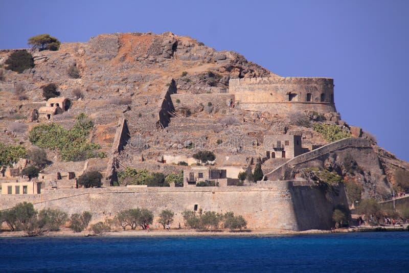 Isla Creta, Grecia de la lepra de Spinalonga fotografía de archivo libre de regalías