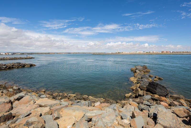 Isla Cristina od Punta De Morał, Ayamonte, Hiszpania zdjęcia stock